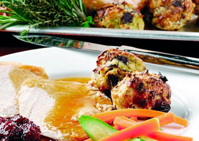 Crown Roast with Pistachio & Apple Stuffing