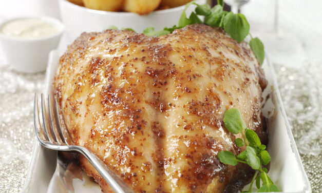 Redcurrant, Horseradish & Mustard Glazed Turkey Crown