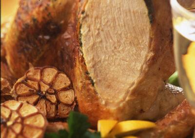 British Turkey Crown with Parsley & Garlic Butter