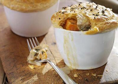 Individual Leftover Turkey & Stilton Pies