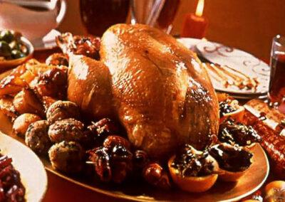 Christmas British Turkey with Smokey Bacon & Mushrooms