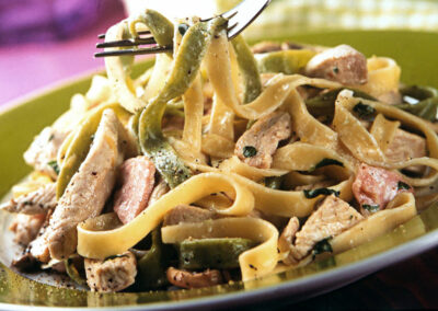 Creamy British Turkey Tagliatelle