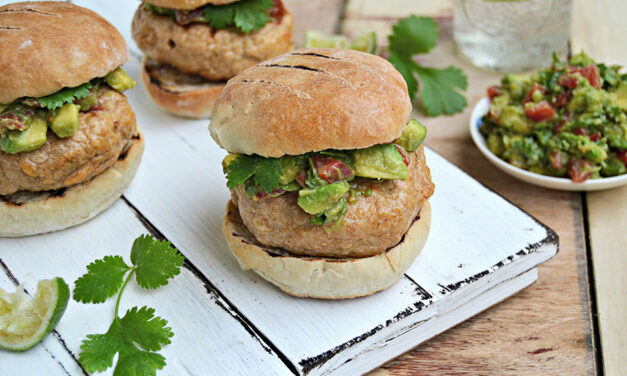 Mexican Style Turkey Burgers with Guacamole