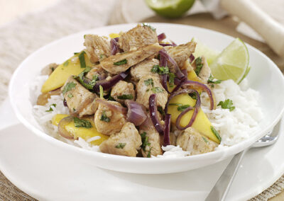 Quick Fry Mango Turkey with Coriander