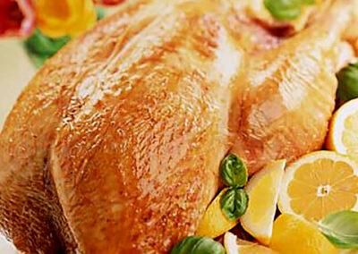 Roast British Turkey with Basil and Lemon