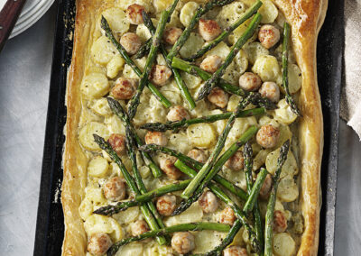 Turkey, Asparagus & New Potato Tart