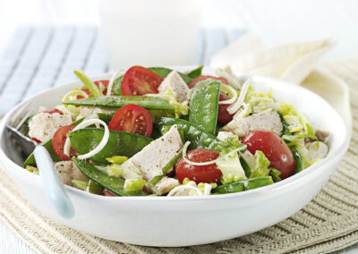 Turkey and Mange Tout Salad