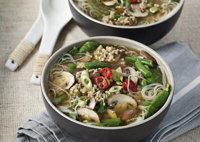 Simple Turkey & Mushroom Miso Broth