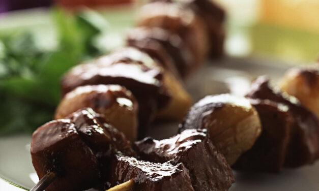 British Turkey and Shallot Kebabs