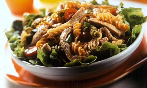 Warm British Turkey and Pasta Salad
